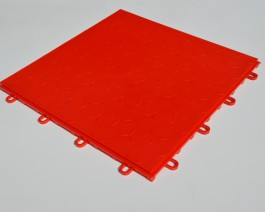 Garage Flooring click together interlocking tiles Matador Red by Dynotile | Dynotile