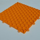 Garage Flooring click together tiles Mandarin Orange by Dynotile | Dynotile